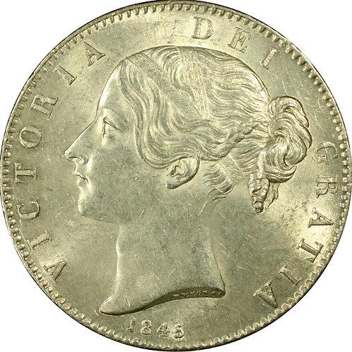 イギリスクラウン銀貨 1845 ヴィクトリア ヤング