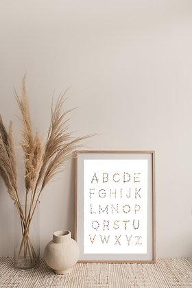print || floral alphabet