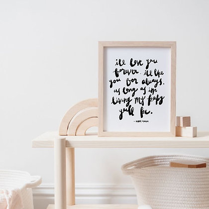 print || i'll love you forever