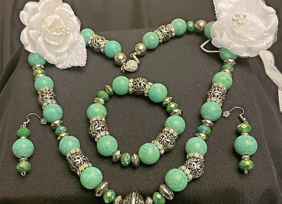 Turquoise Natural Stone Handmade Jewelry - $100 for 5 tickets