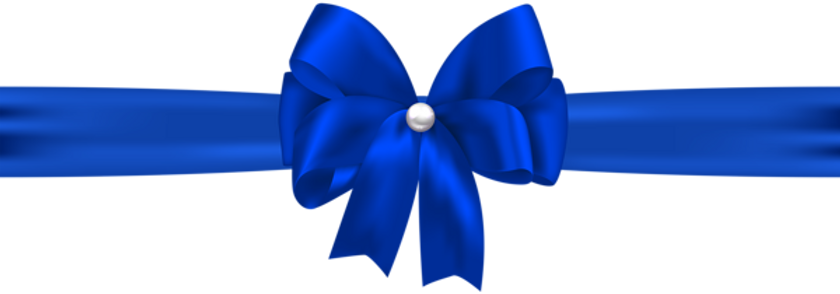 Blue_Bow_with_Ribbon_PNG_Clip_Art_Image.
