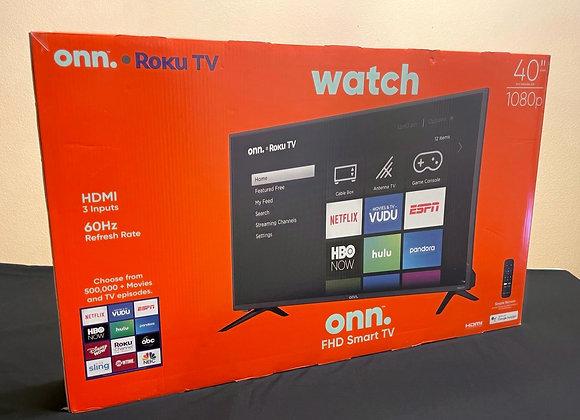 "Onn. 40"" Roku Smart LED TV - $100 for 5 tickets"