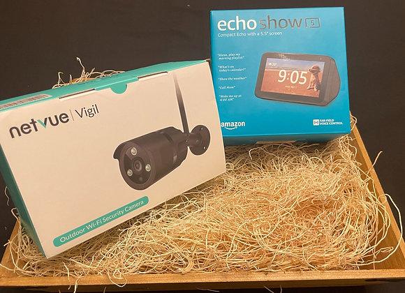 Amazon Echo Show 5 & WiFi Outdoor Security Camera -$25 per Ticket