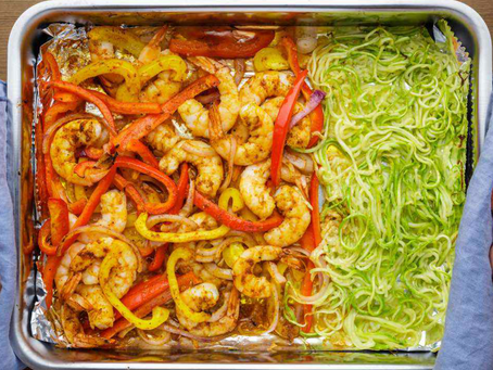 Sheet Pan Shrimp and Noodles