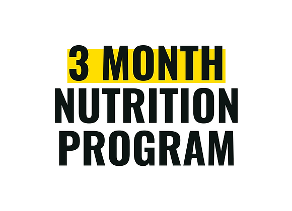 3-Month of 1:1 Nutrition Counseling