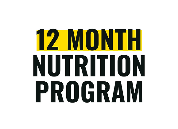 12-Month of 1:1 Nutrition Counseling