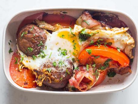 Tomato Bacon Egg Breakfast