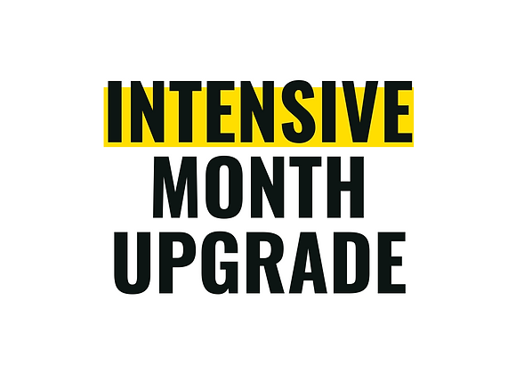 Intensive Month Upgrade