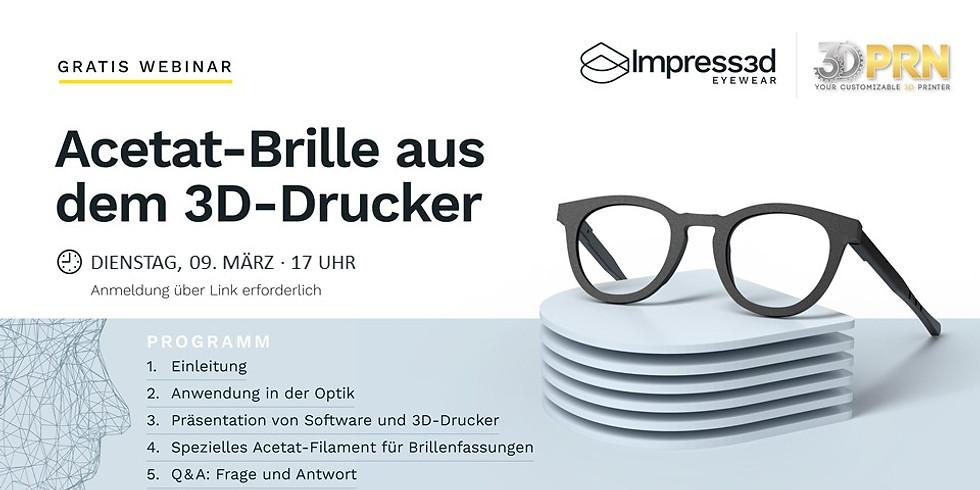 Acetat-Brille aus dem 3D-Drucker