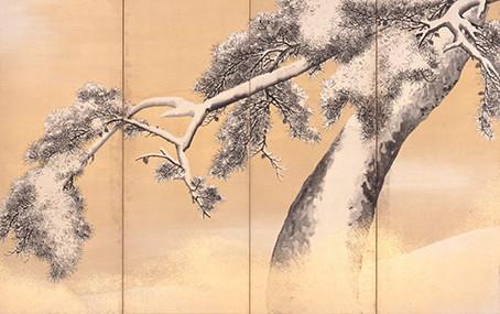 「国宝 雪松図と明治天皇への献茶」展