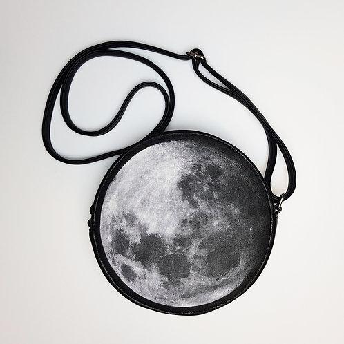 Circle full moon shoulder bag