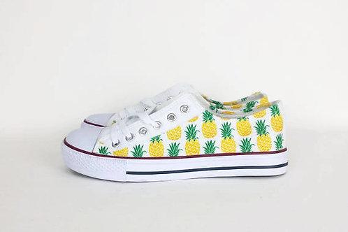 Pineapple sneakers, customised women shoes