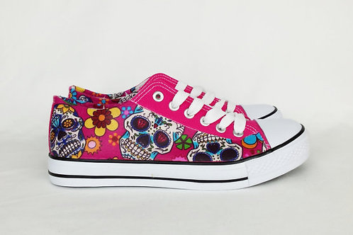 Pink Sugar Skulls custom shoes