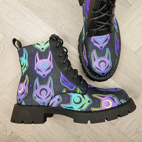 Cyber space fox ankle boots