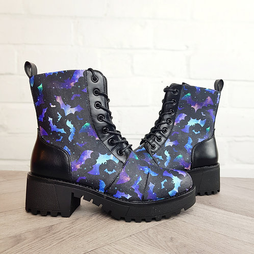 Galaxy bats ankle boots