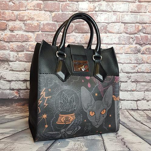 Sphynx cat shoulder bag