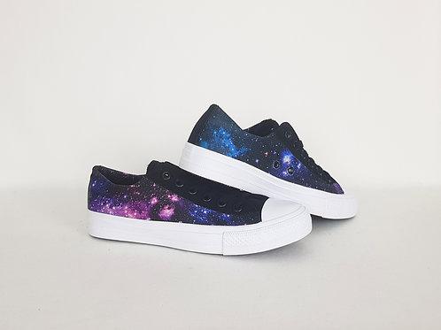 Galaxy nebula custom shoes, geeky trainers