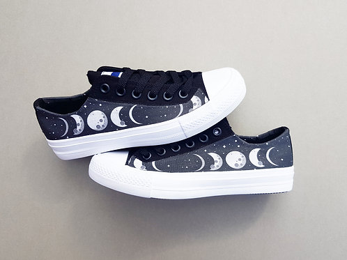 Moon phase custom made shoes