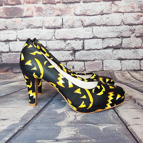 Halloween Jack o Lantern heels
