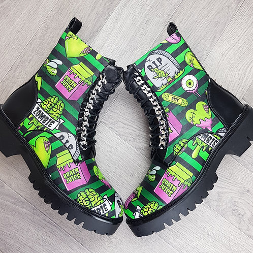 Zombie ankle boots