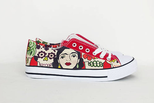 Frida and sugar skulls custom shoes