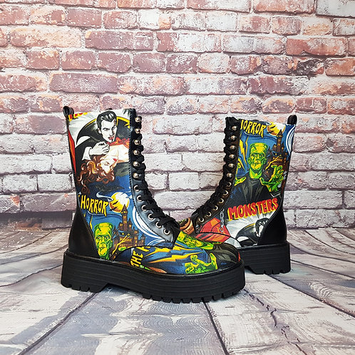 Classic horror chunky platform boots
