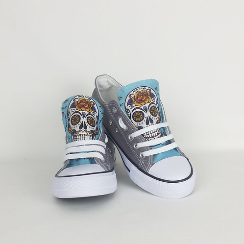 Day of the Dead sneakers, customised women shoes