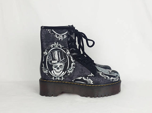 Halloween shoes, witch, skulls, black cats custom boots