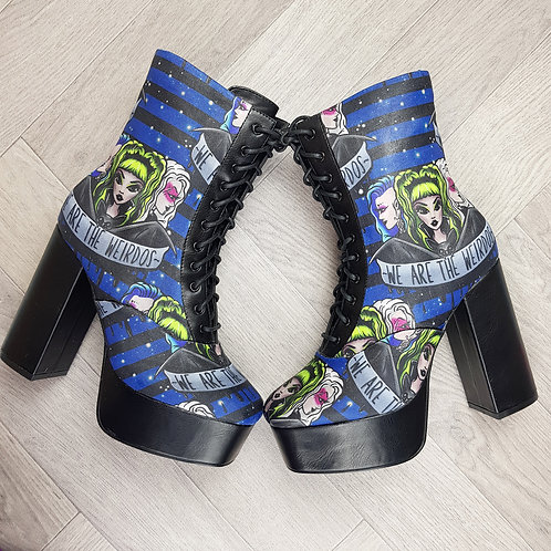 We Are The Weirdos platform ankle boots