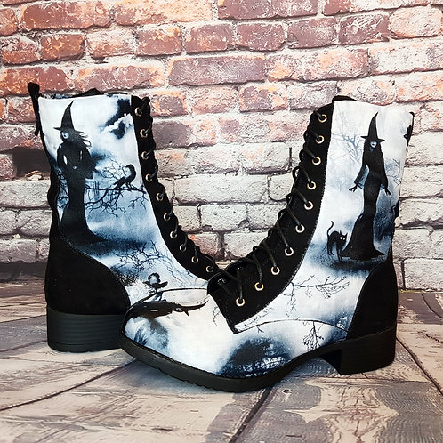 Gothic witch ankle boots