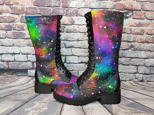 Galaxy boots, custom made space shoes