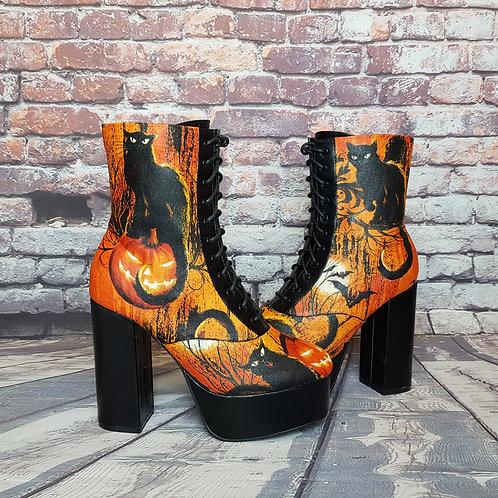 Halloween platform boots