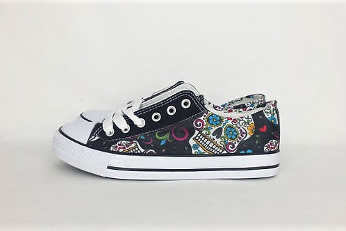 Day of the dead custom shoes