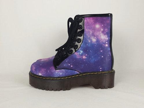 Galaxy Custom Boots, Purple Nebula Soes