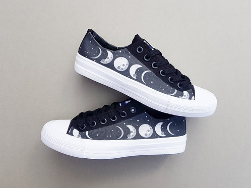 Moon shoes, Lunar phase custom made shoes