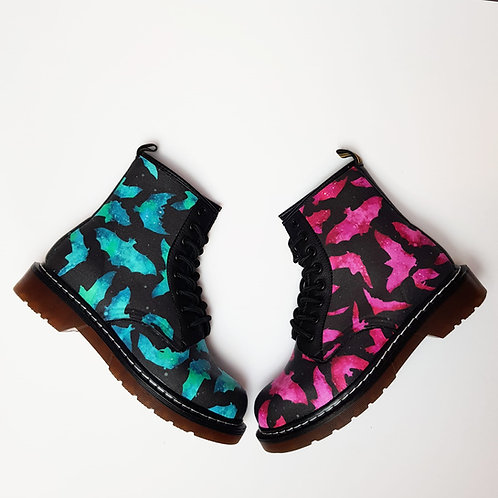 Odd boots, bats custom made ankle boots