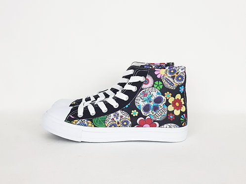 Day of the Dead Plimsolls Hi Tops