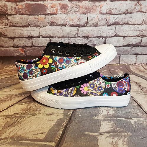 Sugar skull custom made shoes