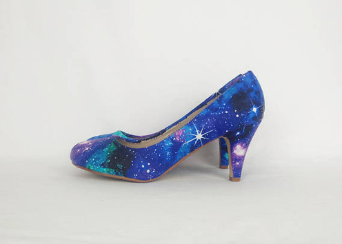 993b2d0d8d5 Rock your style with these awesome galaxy custom heels! Great gift for her!  Friend