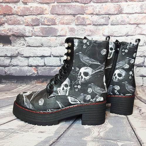 Raven platform ankle boots