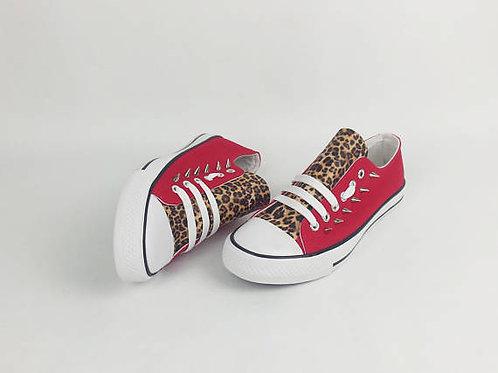 Punk pumps, rockabilly leopard print shoes