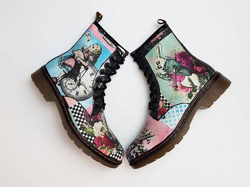 Alice in wonderland custom women boots