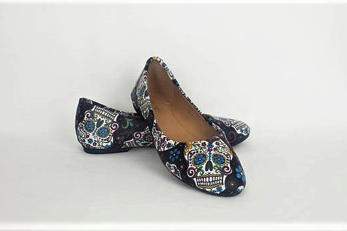 Day of the dead custom dolly pumps