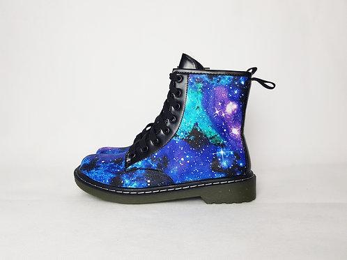 Galaxy shoes, custom made nebula women boots