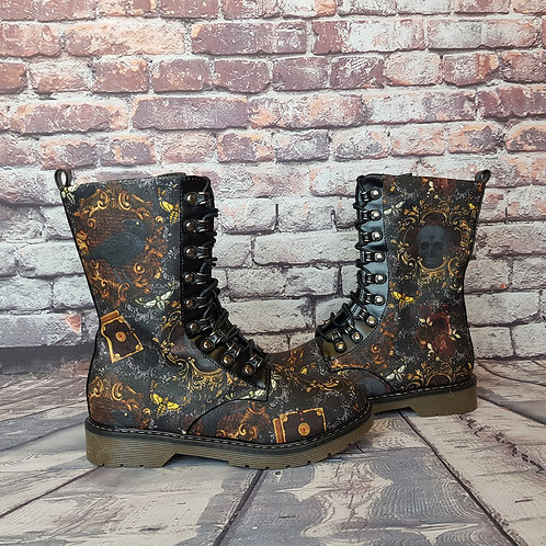 Raven steampunk ankle boots