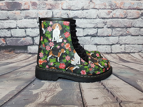 Beagle boots, custom made women ankle boots