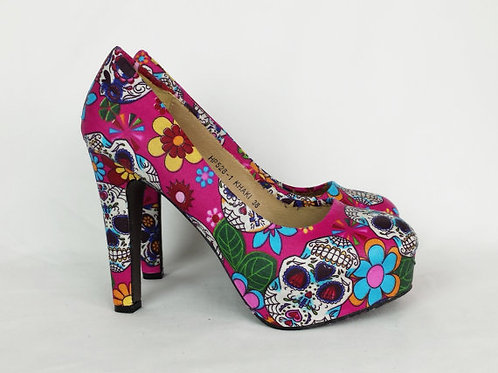 Day of the dead custom heels