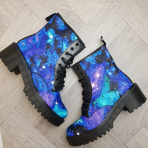 Galaxy chunky ankle boots