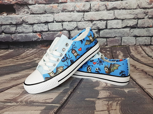Bats print custom shoes