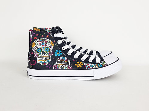 Day of the Dead custom high top shoes